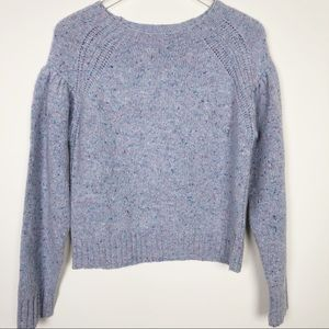 La Vie Rebecca Taylor | Blue Donegal Tweed Sweater